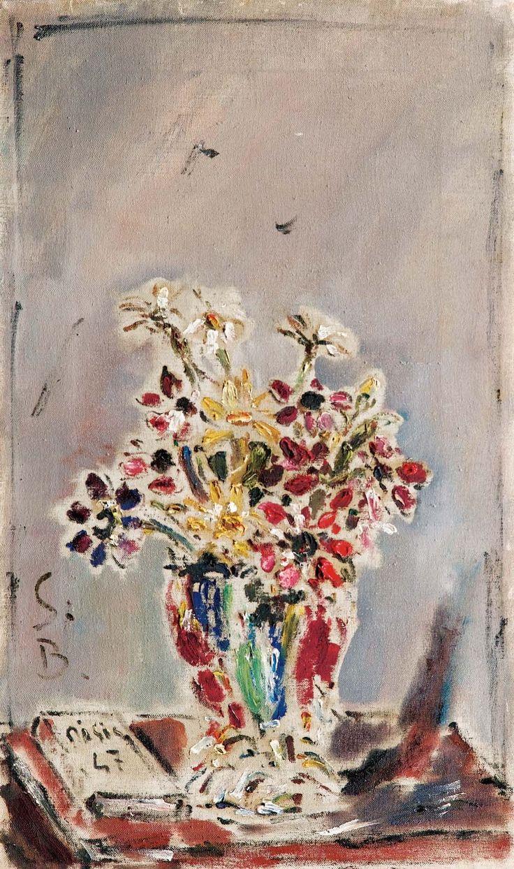 Filippo De Pisis - Vaso di fiori e libro, 1947