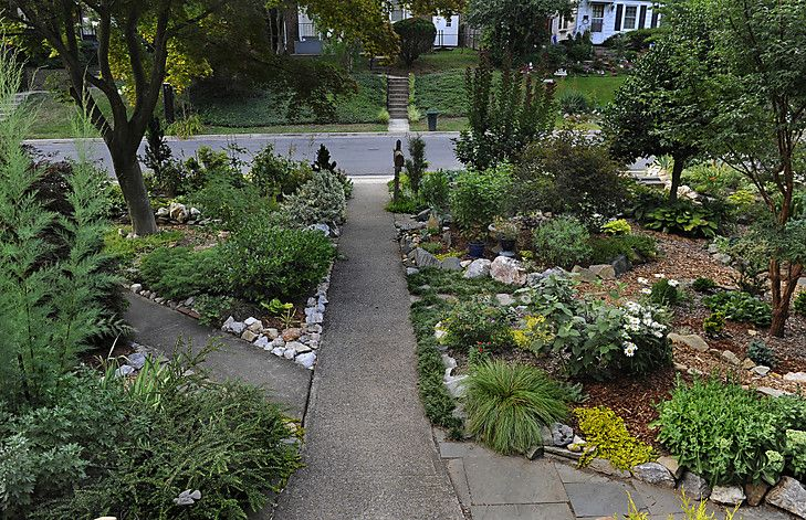 21 best gw grassless front yards images on pinterest for Landscaping rocks buffalo ny