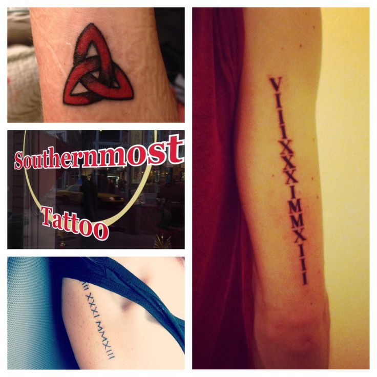 Tattoo southernmost tattoo roman numerals collar bone for Looking glass plastic surgery tattoo removal