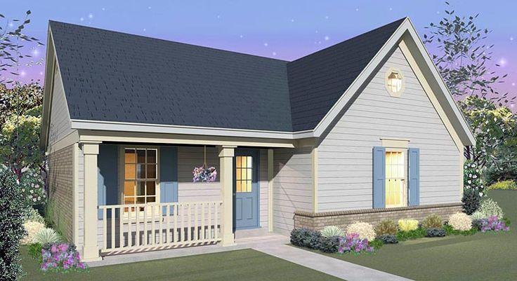 Country House Plan 44928 - 1039sf - 34w x 30d - Extend living rm; combine bdrm 2 & 3; make loft