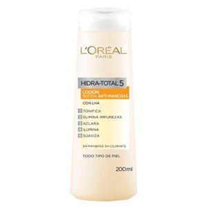 Conoce la loción facial anti-arrugas de Hidra Total 5 que L'Oréal Paris tiene para ti. 5 Beneficios para una piel tonificada, radiante e iluminada.
