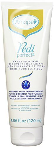 Amope Pedi Perfect Extra Rich Foot Cream, 4.06 fl. Oz. for Skin Recovery