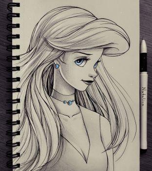 Portrait of Ariel~ By~ Natalico @devientart.com