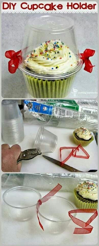 Great idea for transporting cupcakes