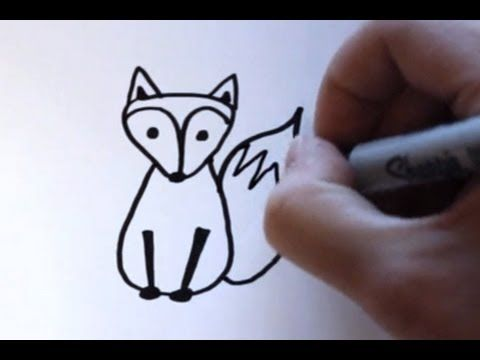 how to draw a fox                                                                                                                      ...