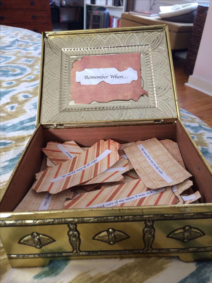 Long Distance Relationship Boyfriend Gift Memory Box