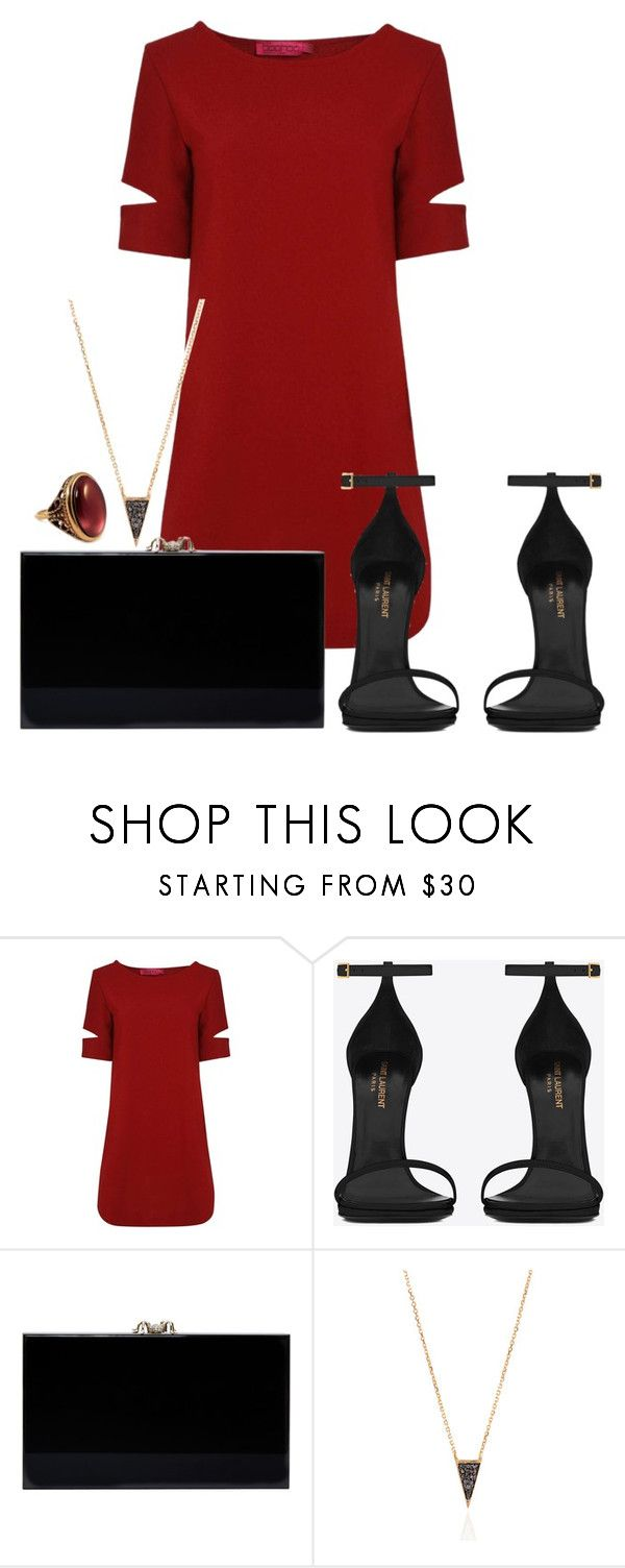 """""""Ew"""" by camiiigonzalez ❤ liked on Polyvore featuring Boohoo, Yves Saint Laurent and Charlotte Olympia"""