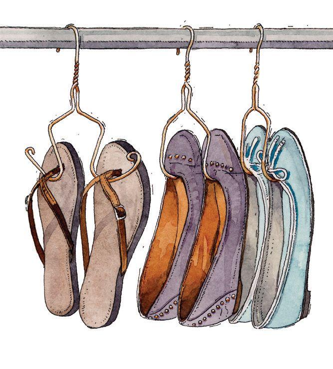 Haz tu propio perchero de zapatos retira la barra for Ganchos para colgar botas