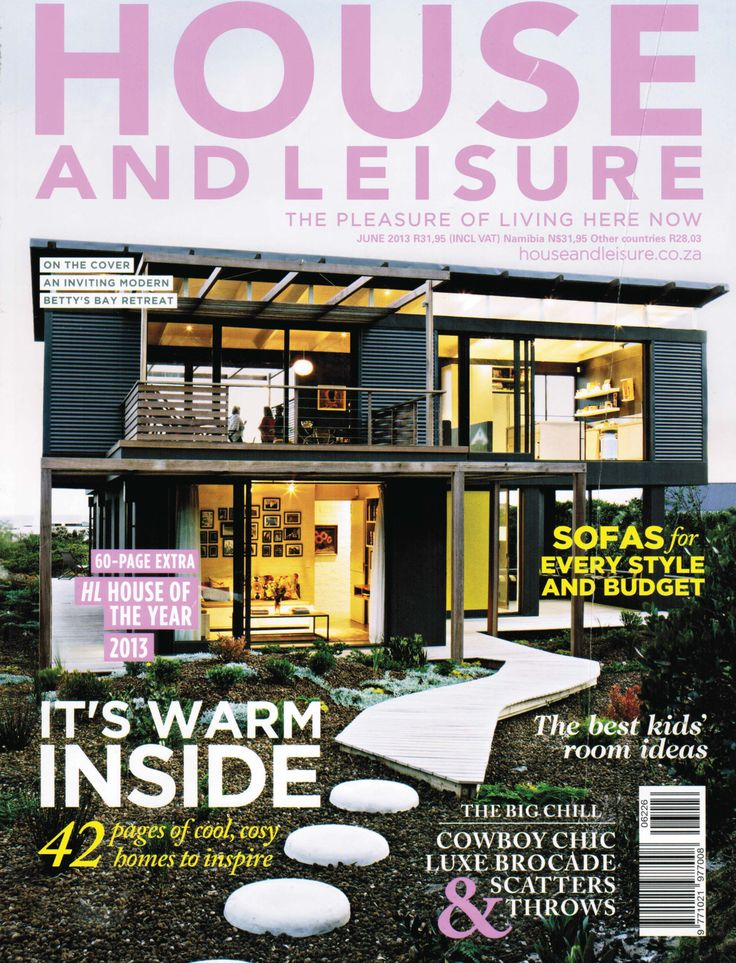 House and Leisure, 'Pure + Simple', Issue 226 June 2013 - Charles van Breda Architects