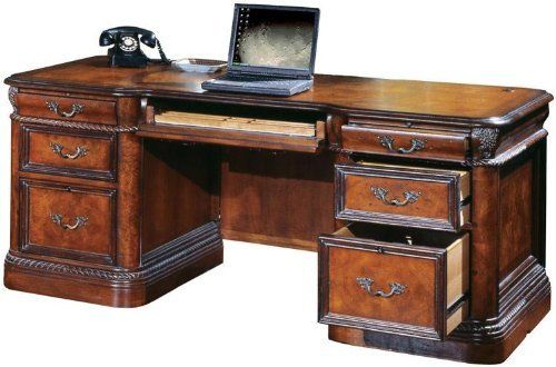 72inW Double Pedestal Executive Desk GKA075 by Aspen Home. $2638.00. Full extension ball bearing glides on every drawer. English Dovetail Drawers. Flip front pullout keyboard or pencil drawer. Locking file drawers adjust to letter or legal hanging files. 2 utility drawers and 1 file drawer per pedestal. 72inW Double Pedestal Executive DeskbyAspen Home Trusted: 20+ Years Experience. Overall: 72 in W x 37 in D x 31 in H ,. Save 25%!