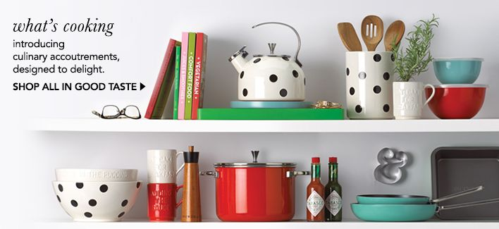 What's cooking, introducing culinary accoutrements, designed to delight…
