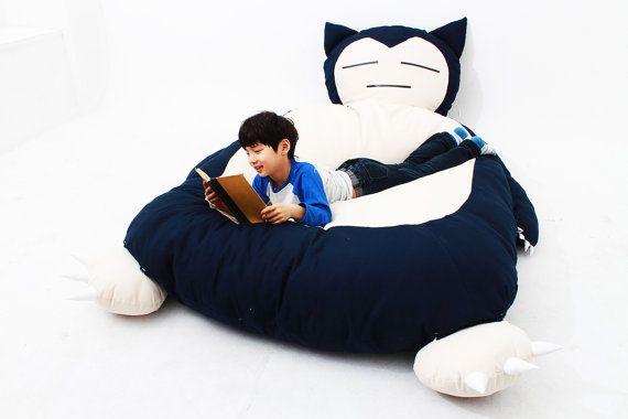 Be a Pokémon master with your own Snorlax bed!