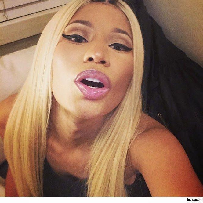 Nicki minaj face shot