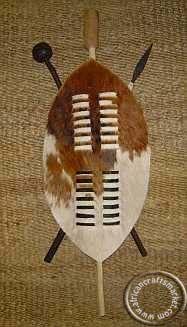 African Zulu 45 cm warrior shield