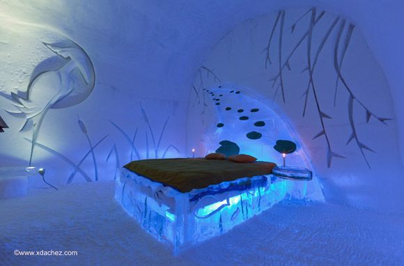 Hotel de Glace, Quebec City Canada: They rebuild the entire hotel every year