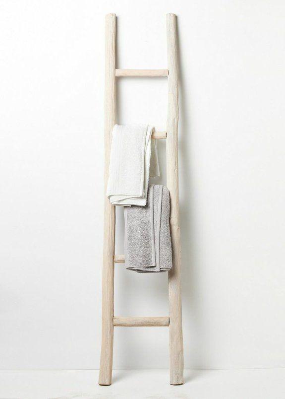 Handtuchleiter Holz - 35 reizende Badezimmer im Landhausstil