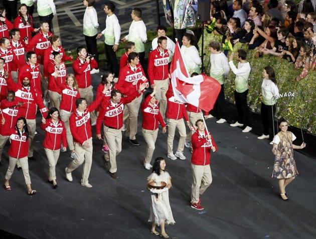 Canada's flag bearer Simon…