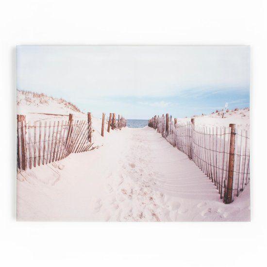 Graham & Brown Graham & Brown - Wandeling naar het strand - Canvas - Zand/blauw - 80x60 cm