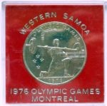 1 tala. 1976, Western Samoa. Olympic Games Montreal '76. Weight lifting.