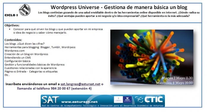 Talleres sobre #Wordpress en Mayo en en Langreo