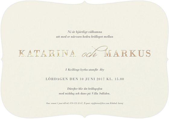 Delicate Love Inbjudningskort från Calligraphen