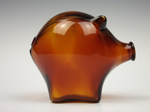 Cascade Glass piggy bank