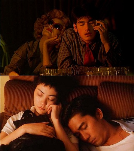 Chungking Express    Tony Leung and Takeshi Kaneshiro  Directed by the wondrous   Wong Kar-Wai