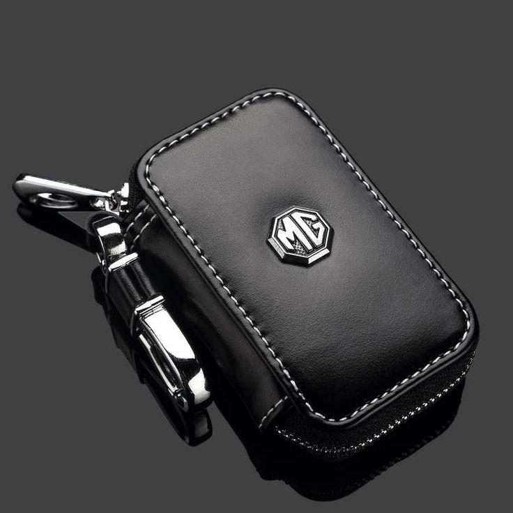Много Другой Марки Автомобиля Логотип 2016 Новый Классический Черный Натуральная Кожа Авто Ключевые Бумажник для Univesal для МГ