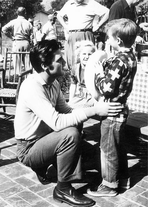 """Elvis on the set of his second movie """"Loving You"""" - 1957"""