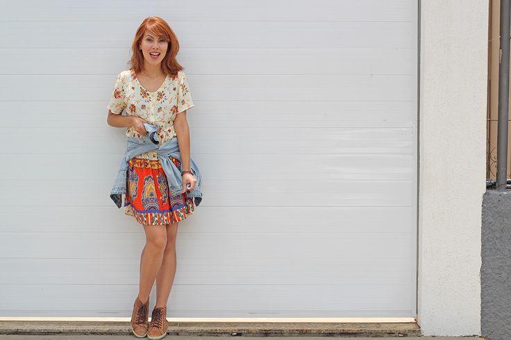 looksly - Aline Brum com vestido estampado do Alto Verão 2016