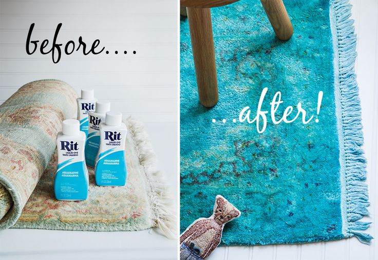 Overdyed rugs are really hot right now but can often cost a pretty penny so Sweet Paul decided to overdye one himself. It's easy to do.The lighter the rug, the better the result will be!