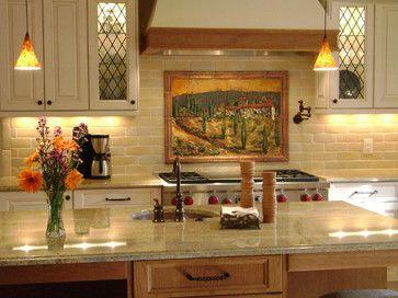 Tuscany Scene Kitchen Backsplash - mediterranean - kitchen - charlotte - Designer Glass Mosaics