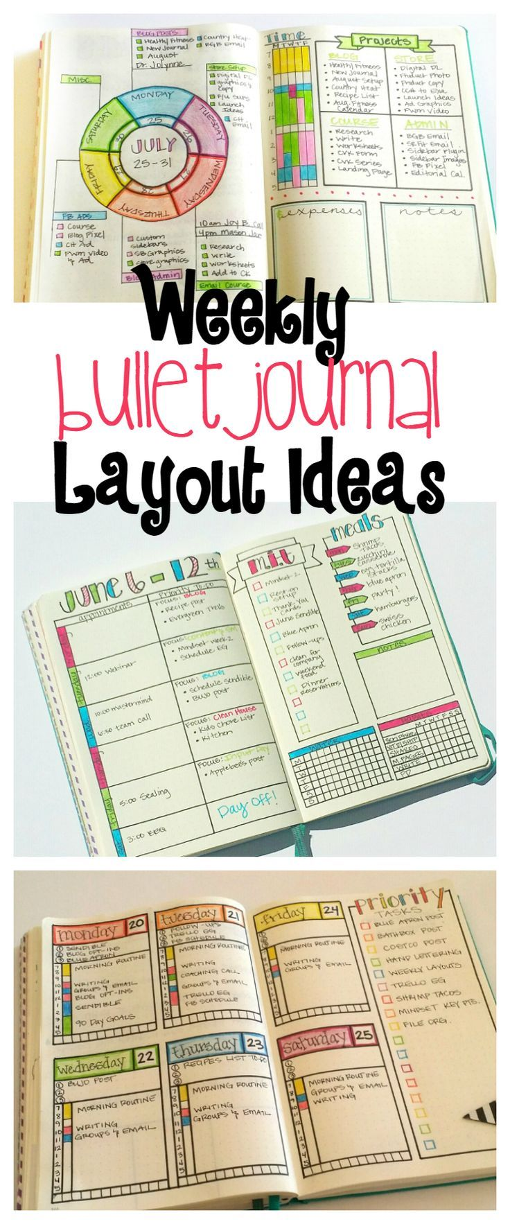 Bullet Journal Weekly Layout Ideas