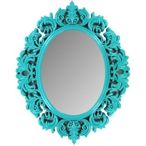Chic Turquoise Victorian Mirror Wall Decor Kids Salon
