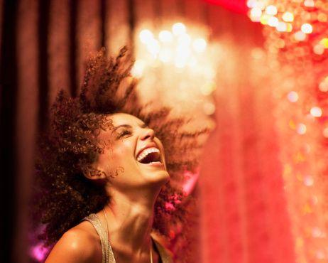 Royalty-free Image: woman dancing at nightclub