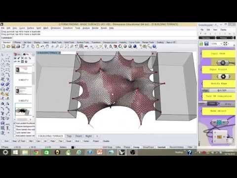 MEMBRANE STRUCTURES FORM FINDING FOR TWENTY POINTS FACADE - YouTube