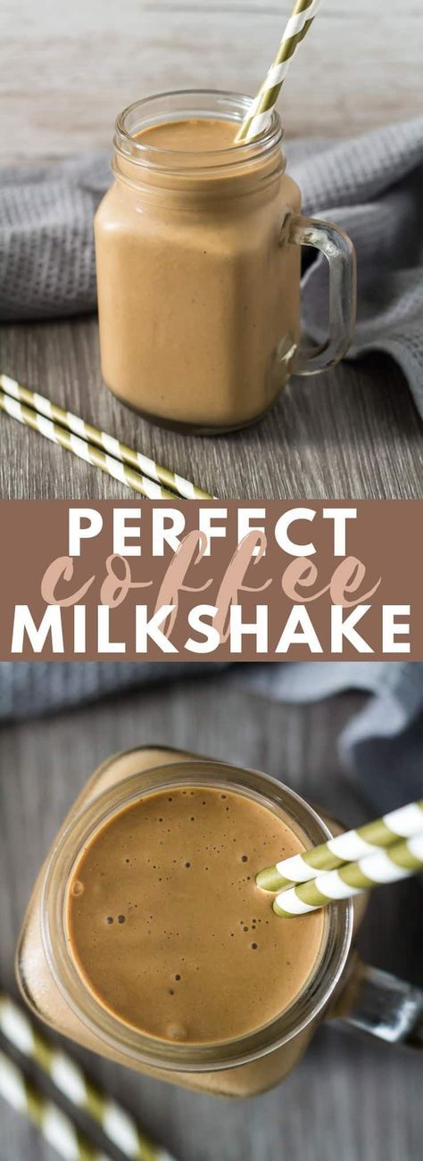 Perfect Coffee Milkshake – This milkshake is deliciously thick, loaded with flav…