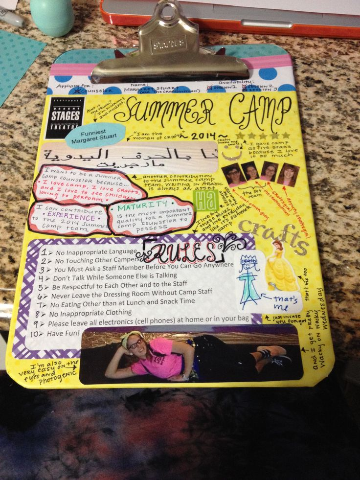 Summer camp clipboard- I'm doing this without a doubt