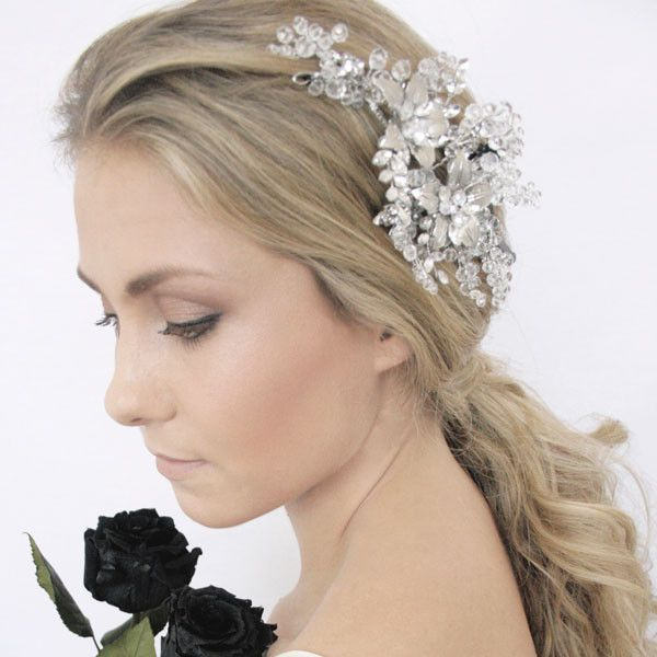 Tinker Bell Headpiece by Shop No.2 - Handcrafted Headpiece with gold metal flowers and crystal beads.