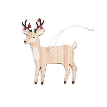 Kerstboomhanger, hout, hert