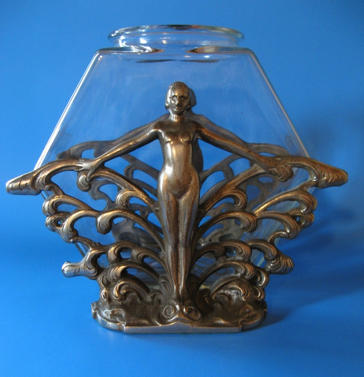 Vntg FRANKART Era Deco Nude Fishbowl Stand Aquarium Art Specialty Co | eBay