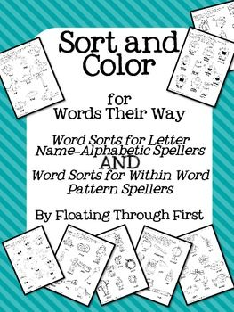 This file includes 100 different sort and color pages that are tailored to each Word Their Way sort in Word Sorts for Letter Name: Alphabetic Spellers and Word Sorts for Within Word Pattern Spellers.
