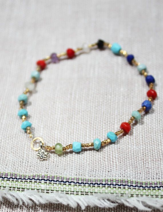 multi-gem-stone-with-gold-beads-elastic