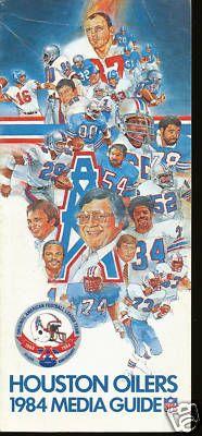1984 Houston Oilers NFL Media Guide | eBay