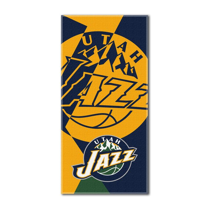 "Jazz OFFICIAL National Basketball League, ""Puzzle"" 34""x 72"" Over-sized Beach Towel - by The Northwest Company"