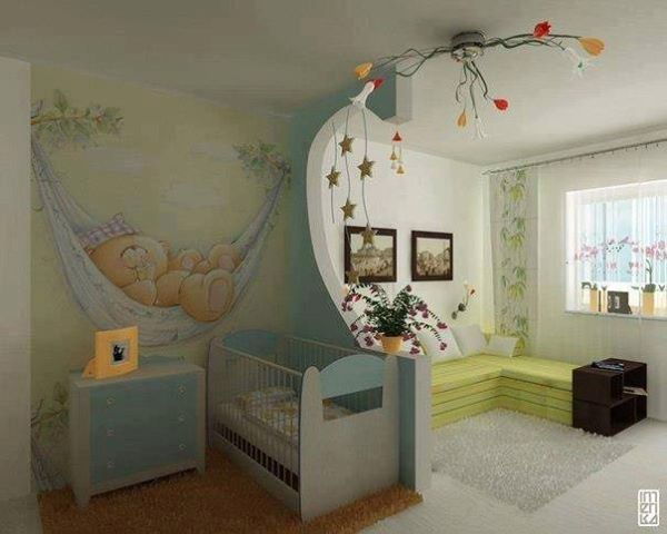 Que lindo mural para un cuarto de bebe cuarto bb for Mural para habitacion