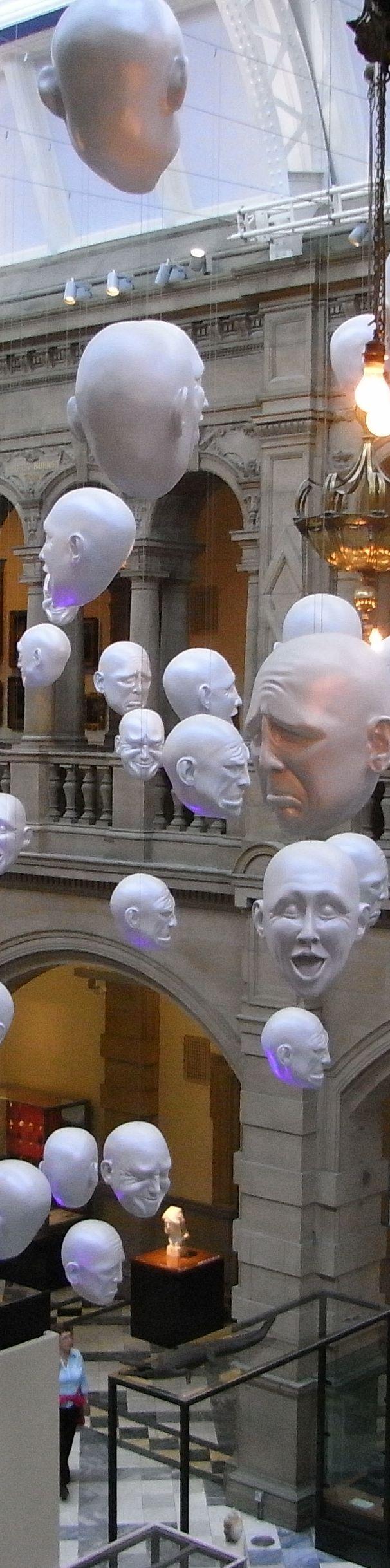 Hanging Heads, Kelvingrove Art Gallery and Museum, Glasgow
