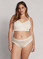 Ruched Lace Bralette,