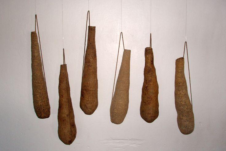 Hanging Vessels - coiling. Anne Birgitte Beyer