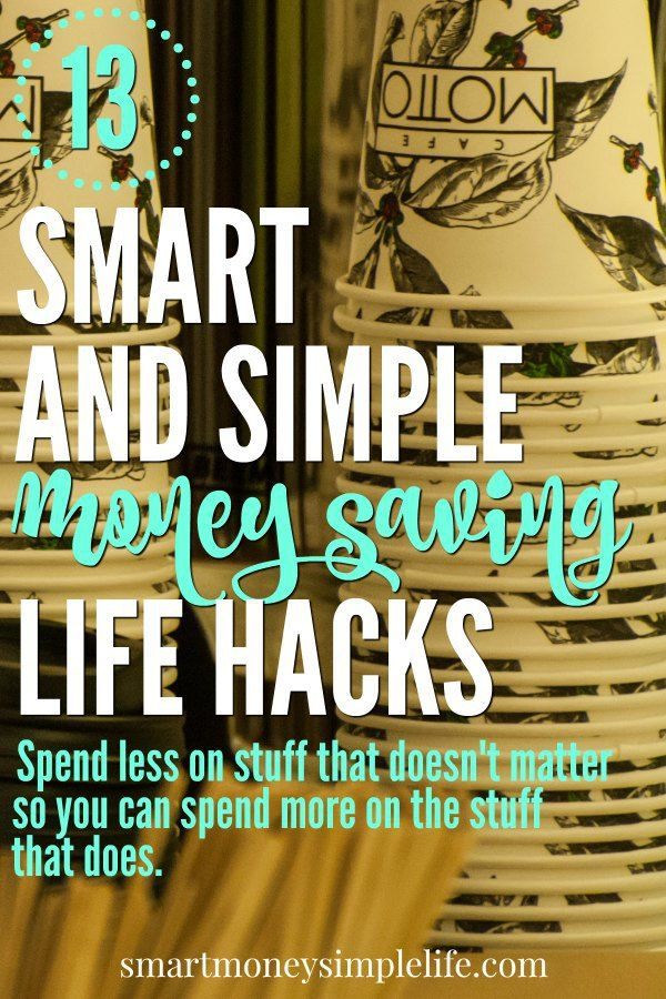 Money saving life hacks help you spend less on stuff that doesn't matter so you can spend more on the stuff that does. Life is too short to sacrifice the fun stuff. | Frugal Living Tips |